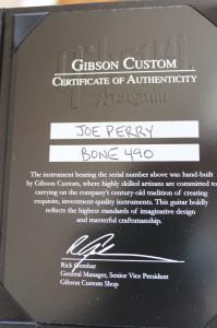 Certificate of BONE 490
